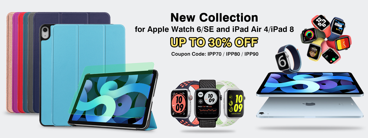 New Collection for Apple Watch 6/SE and iPad Air 4/iPad 8 UP TO 30% OFF
