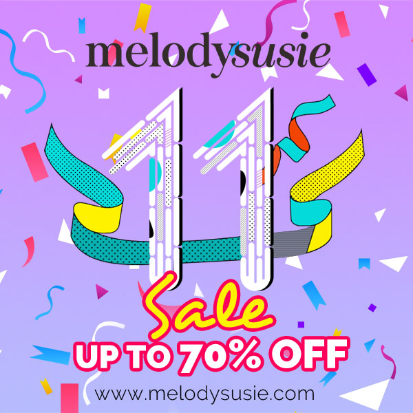 Save Extra 11% OFF on Melodysuse 11th Anniversary Celebration!