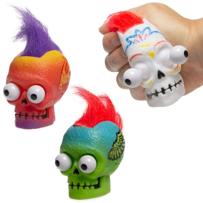 Schylling Pop Skull – Funny, Eye Popping Squeeze Toy