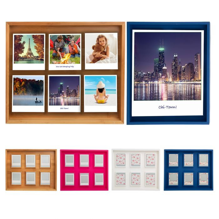 Magnetic 12 x 10 Polaroid Frame – Holds Big Or Multiple Photos