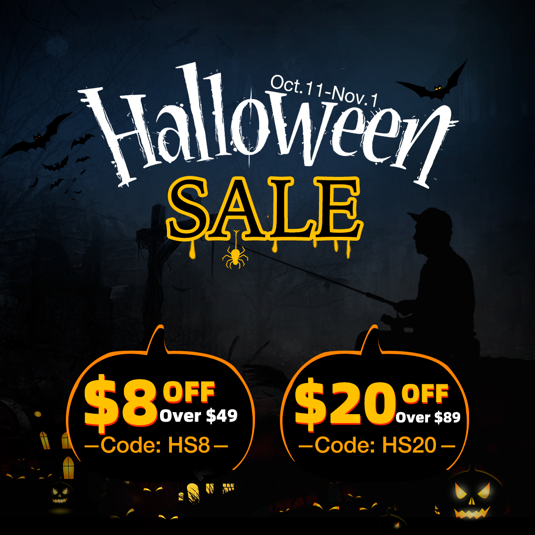 Happy Halloween,Up to 20% off on Piscifun
