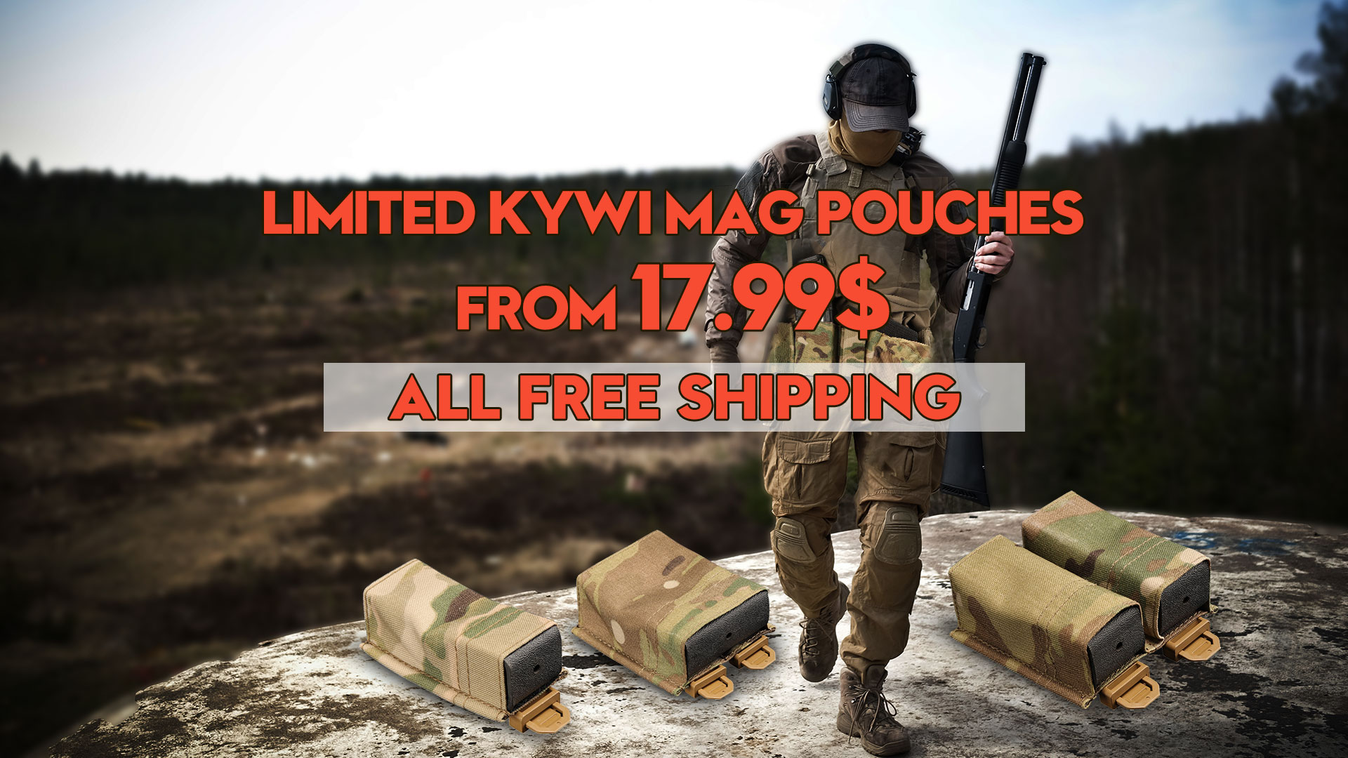 All free shipping for KYWI mag pouches deals